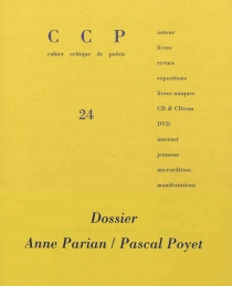 Cahier critique de poésie, n° 24 -