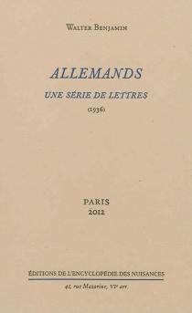 Allemands : une série de lettres (1936) -