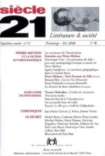 Siècle 21, littérature et société, n° 12 -