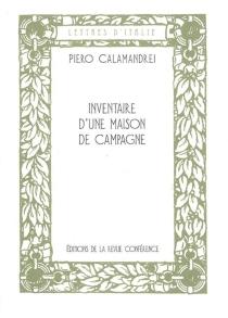 Inventaire d'une maison de campagne - PieroCalamandrei