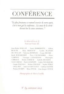 Conférence, n° 39 -