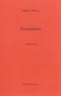 Formulaire : aphorismes - OlivierHervy