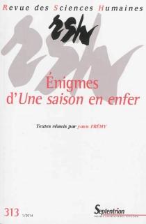 Revue des sciences humaines, n° 313 -