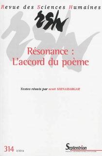 Revue des sciences humaines, n° 314 -