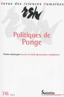 Revue des sciences humaines, n° 316 -