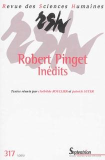 Revue des sciences humaines, n° 317 -