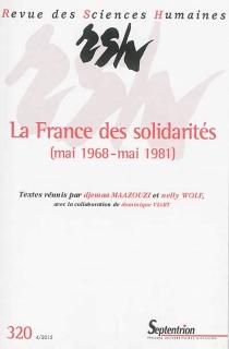Revue des sciences humaines, n° 320 -
