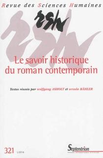 Revue des sciences humaines, n° 321 -