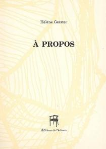 A propos - HélèneGerster