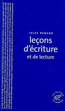 Leçons d'écriture et de lecture - JulesRenard