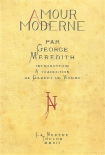 Amour moderne - George Meredith
