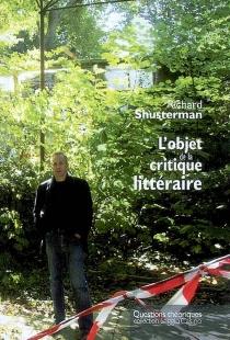 L'objet de la critique littéraire - RichardShusterman