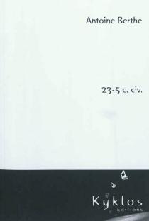 23-5 c. civ.| Suivi de L 742-3 CESEDA - AntoineBerthe