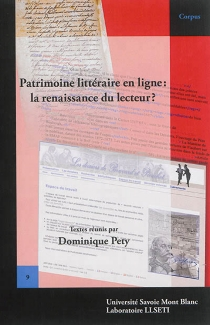 Patrimoine littéraire en ligne : la renaissance du lecteur ? -