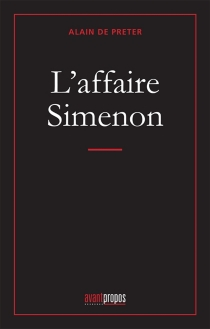 L'affaire Simenon - AlainDe Preter