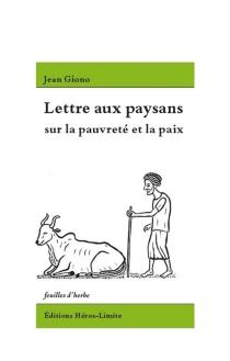 Lettre aux paysans sur la pauvreté et la paix - JeanGiono