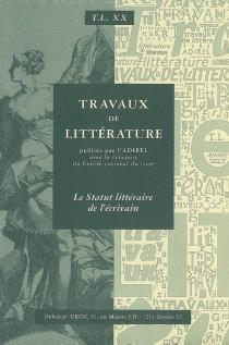 Travaux de littérature, n° 20 -