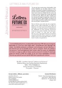 Lettres à ma future ex : auto-friction d'un misogénie - JonathanHénault
