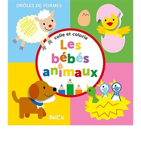 colle et colorie les b b s animaux livres jeux. Black Bedroom Furniture Sets. Home Design Ideas