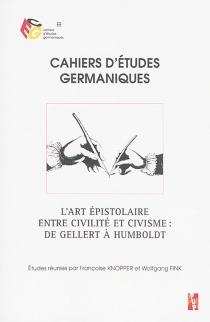 Cahiers d'études germaniques, n° 70 -