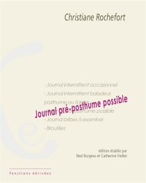 Journal pré-posthume possible - ChristianeRochefort