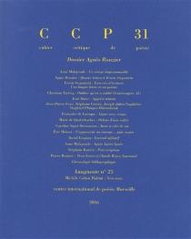 Cahier critique de poésie, n° 31 -