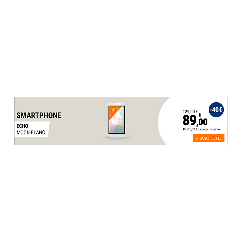 DPM8 - SMARTPHONE ECHO MOON BLANC