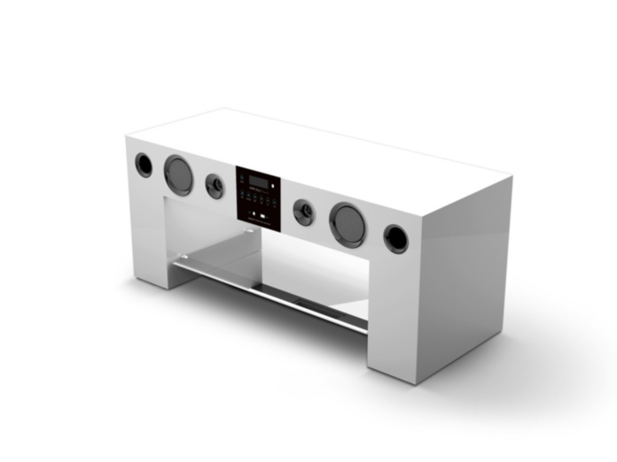 Meuble Tv Amplifie : Meuble Home Cinema Nesx Ne780 Blanc