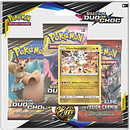Pack 3 boosters Pokémon SL09 Lune & Soleil - modèle aléatoire