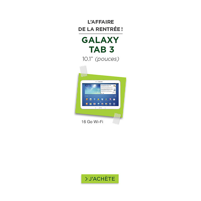 Tablette Samsung Galaxy TAB 3 10'' blanc + cover pas cher
