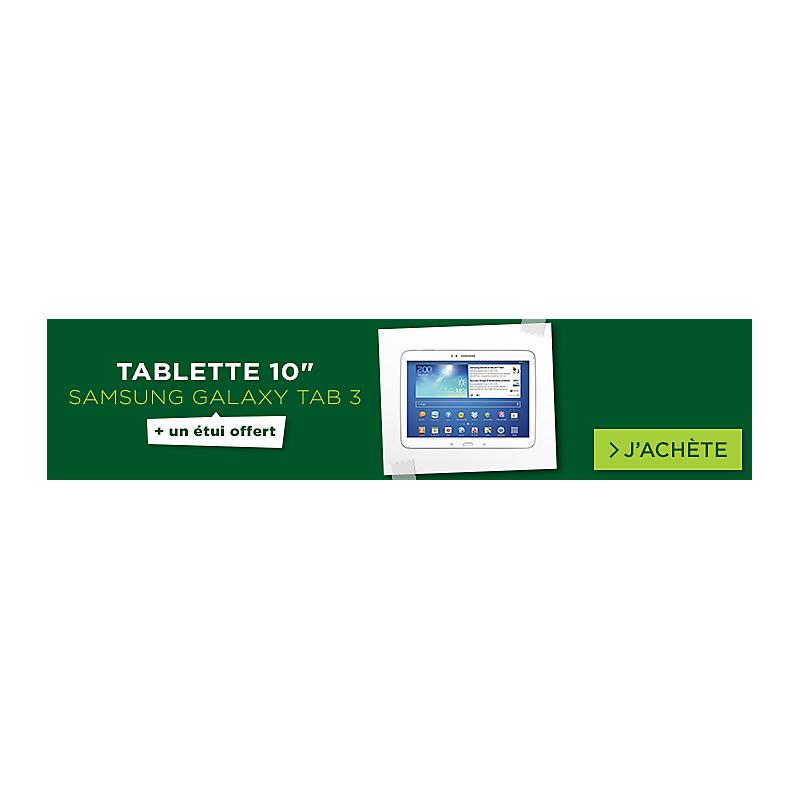 Tablette Samsung Galaxy TAB 3 10'' blanc + cover