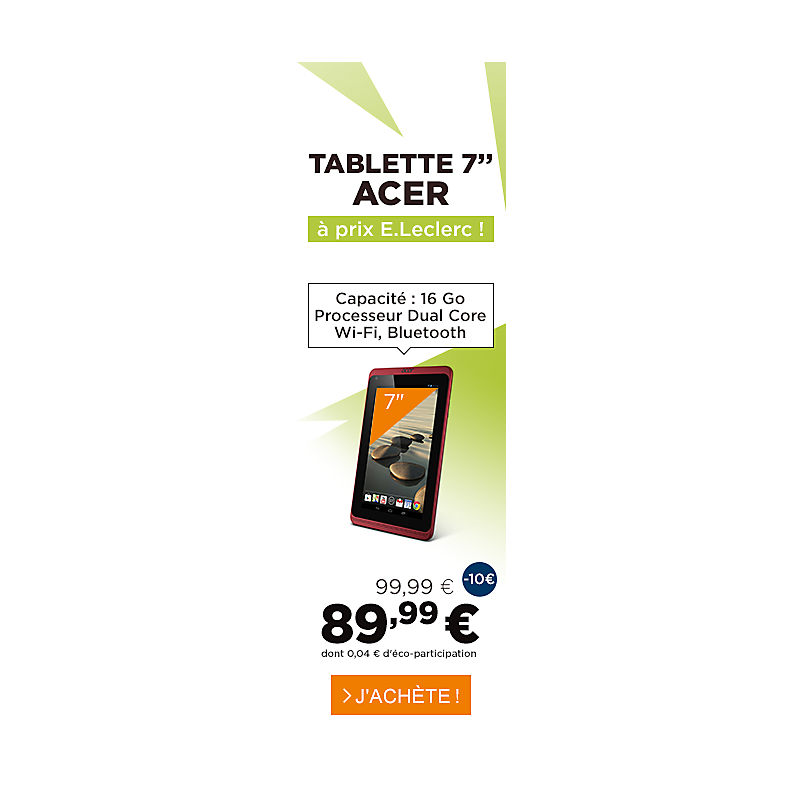 Tablette 7 pouces iconia