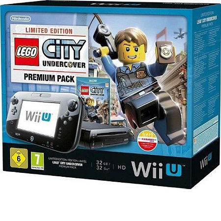 console nintendo wii u 32 go noire 39 lego city undercover 39 premium pack dition limit e wii. Black Bedroom Furniture Sets. Home Design Ideas