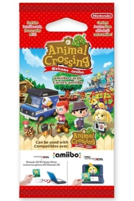 paquet de 3 cartes Animal Crossing New Leaf - welcome Amiibo
