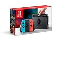 Console nintendo switch avec un joy con rouge n on et un joy con bleu n on switch consoles - Cable hdmi leclerc ...