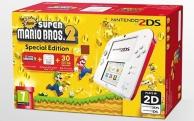 pack console Nintendo 2DS (blanc et rouge) et new super Mario Bros 2 (préinstallé) - édition spéciale (3DS)