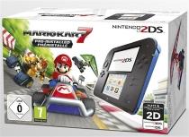 console nintendo 2DS noir et bleu et Mario Kart 7 (préinstallé) - noir et bleu (3DS) -