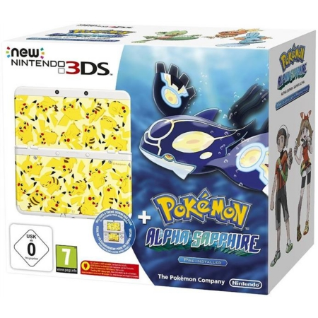 Pack console new nintendo 3ds blanche coque pikachu for Coque 3ds xl pokemon
