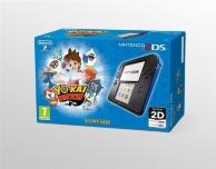 console nintendo 2DS noir et bleu et Yo-kai Watch (préinstallé) (3DS)