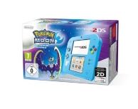 console nintendo 2DS bleue et Pokémon Lune (préinstallé) (3DS)