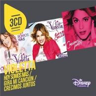 3 CD originaux : Violetta - hoy somos mas / gira mi cancion / crecimos juntos