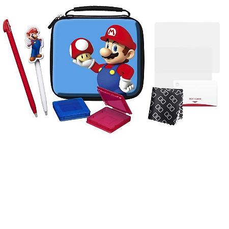 Pack d 39 accessoires mario officiel pour nintendo 2ds 3ds for Housse 2ds mario