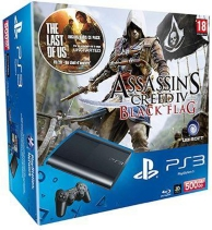 pack console playstation 3 (500Go) et assassin's creed 4 (PS3)