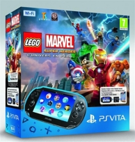pack console PSVita (wifi), Légo Marvel: super heroes (à télécharger) et carte mémoire (4Go) (PS VITA)