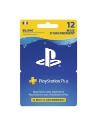 Playstation plus livecards abonnement 12 mois (PS4)