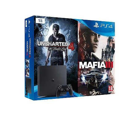 Pack console playstation 4 1to uncharted 4 mafia 3 exclusivit e leclerc ps4 consoles - Cable hdmi leclerc ...