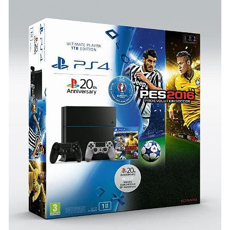 pack console playstation 4 1to pes euro 2016 t l charger ds4 20th anniversary ps4. Black Bedroom Furniture Sets. Home Design Ideas