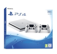 pack console Playstation 4 slim (500Go) et 2eme manette DualShock 4 - White (PS4)
