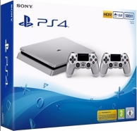 pack console Playstation 4 (500Go) et 2eme manette DualShock 4 - Silver (PS4)
