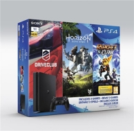 pack console Playstation 4 (1To), Horizon Zero Down, Ratchet et Clack et Drive Club (PS4)